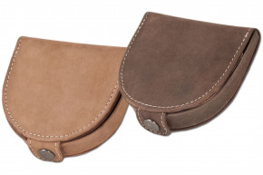Woodland - Little Shake-wallet made from natural, soft buffalo leather in cognac