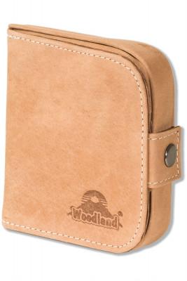 Woodland® Schüttelbörse mit Geldscheinfach aus naturbelassenem, weichem Büffelleder in Cognac