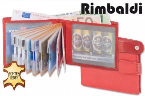 Rimbaldi® Super-Kompakte Minibörse mit Außen-Kleingeldfach aus naturbelassenem, weichem Rindsleder