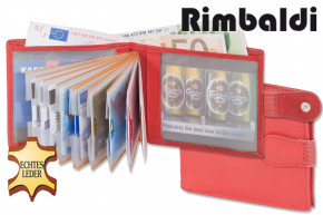 Rimbaldi®- Super Compact Mini wallet with exterior change pocket made from natural, soft cow leather