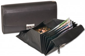 Rimbaldi®Professional waiter wallet with specially reinforced coin case made of natural, soft cow leather in black