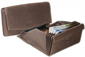 Wild Nature® - Professional waiter wallet with specially reinforced coin compartment made of smooth leather in black
