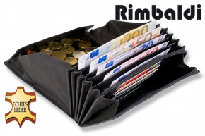 Rimbaldi® Professional waiter wallet made of natural, robust buffalo leather in black
