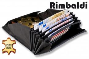 Rimbaldi® Profi-Kellnerbörse mit extra verstärktem Hartgeldfach aus robustem, weichem Büffelleder