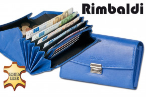 Rimbaldi® - Professional waiter wallet with extra reinforced coin compartment made of soft, natural cow leather in royal blue