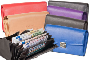 Rimbaldi® - Professional waiter wallet with extra reinforced coin compartment made of soft, natural cow leather