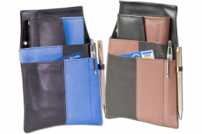 Rimbaldi® - Design Waiter wallet complete with holster made of soft, natural cow leather