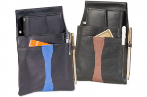 Rimbaldi®Design waiter wallet and holster made of soft, natural cow leather