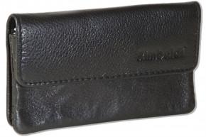 Rimbaldi® Auto-Schlüsseltasche aus hochwertigem Rind-Nappaleder in Schwarz