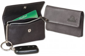 Woodland® RFID CAR PROTECTION Auto-Schlüsseltasche aus naturbelassenem Büffelleder in Anthrazit