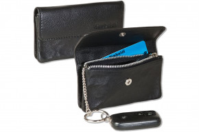 Rimbaldi® RFID CAR Protecto®Schlüsseltasche für den Autoschlüssel aus hochwertigem Rind-Nappaleder in Schwarz