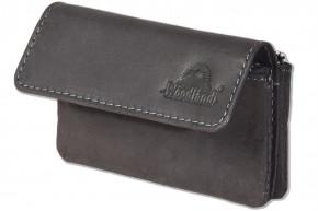 Woodland® Schlüsseltasche für den Autoschlüssel aus hochwertigem Rind-Nappaleder in Schwarz