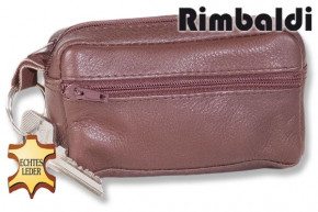 Rimbaldi® - Large key pocket with extra compartment made ofsoft, untreated cow leather in dark-brown