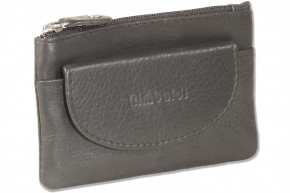 Rimbaldi® - Key bag with 2 separate compartments and key rings made of soft, untreated cow leather in black