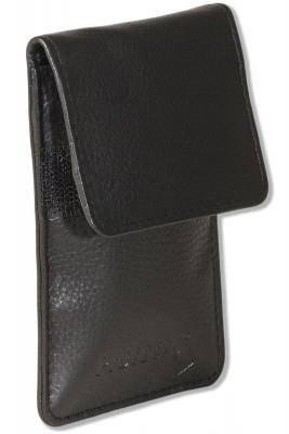 Protecto® KEYLESS-GO Funkwellenblocker für Autos mit diesem System aus feinstem samtweichem Rinderleder der Spitzenklasse in Schwarz