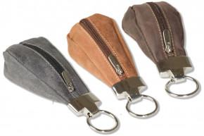 Wild Nature® Luxus-Schlüsseletui mit Extratasche aus naturbelassenem Büffelleder in verschiefdenen Farben