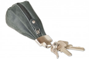 Woodland® Luxury key case with extra bag made of natural buffalo leather in anthracite