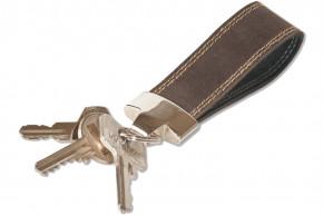 Woodland® Schlüssel-Handschlaufe aus naturbelassenem Büffelleder in Dunkelbraun/Taupe