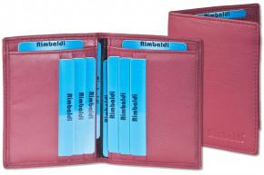 Rimbaldi® Ausweis-/Kreditkartenetui für 6 Kreditkarten und 4 Ausweise aus weichem, naturbelassenem Rindsleder in Bordeaux