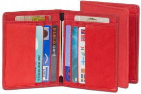 Rimbaldi® Ausweis-/Kreditkartenetui für 6 Kreditkarten und 4 Ausweise aus weichem, naturbelassenem Rindsleder in Rot