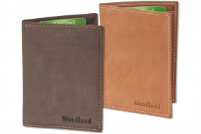 Woodland® Licence-/Creditcard case for 6 credit cards and 4 identy-card slots  made from soft buff leather