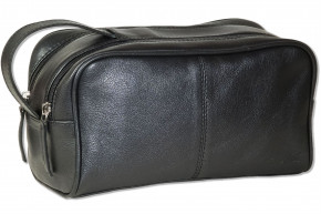 Rimbaldi®  Leather key bag made from soft, untreated buff leather in dark-brown/Taupe