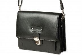 Rimbaldi® - Modern Universal bag with practical leather loop of high-quality nappa leather in black