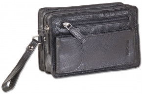 Rimbaldi® Wrist bag for men made of the finest, high-quality cow-nappa leather in black