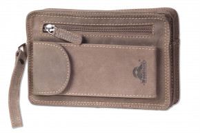 Woodland® Wrist bag for men made of the finest, high-quality cow-nappa leather in black