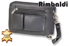 Rimbaldi® Luxury handbag made of finest, high-quality beef nappa leather in black