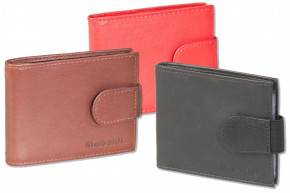 Rimbaldi® - Credit card holder for 14 cards or 26 business cards, made of soft, untreated cow leather in black