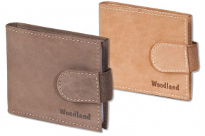 Woodland® - Credit card holder for 18 cards or 38 business cards made of soft, untreated buffalo leather