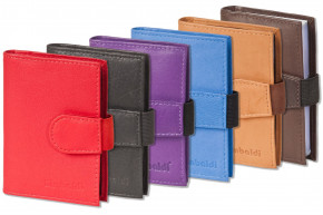 Rimbaldi® - XXL credit card holder with 20 card slots made of soft, natural cowhide leather