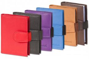Rimbaldi® XXL-Kreditkartenetui mit 20 Kartenfächern aus weichem, naturbelassenem Rindsleder