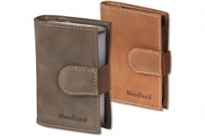 Woodland® - XXL credit card holder with space for a total of 18 credit cards in soft, natural buffalo leather