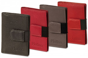 Platino - XXL credit card holder with 18 card compartments made of soft, natural cow leather