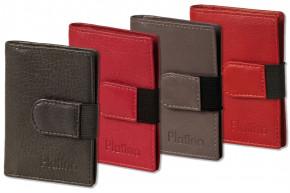 Platino - XXL-Kreditkartenetui mit 18 Kartenfächer aus weichem, naturbelassenem Rindsleder