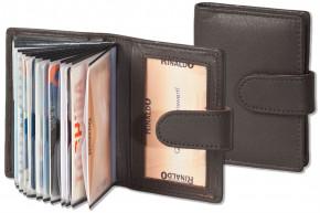 Rinaldo® XXL-Kreditkartenetui für insgesamt 19 Kreditkarten aus weichem Rind-Nappaleder in Dunkelbraun