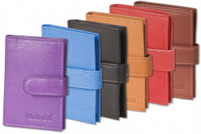 Rimbaldi® - XXL credit card holder for 21 credit cards in soft, natural cow leather