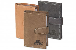 Woodland® - XXL credit card holder with 19 card slots made of soft, natural buffalo leather
