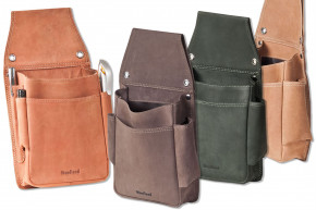 Woodland® Sehr robustes Profi-Kellnerbörsen-Holster aus weichem, naturbelassenem Büffelleder