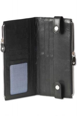Rimbaldi® - Moderne Reise/Dokumententasche aus weichem, hochwertigen Rindsleder in Schwarz