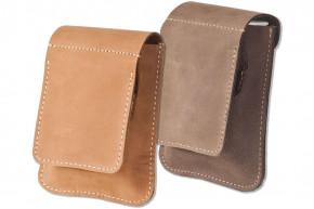 Woodland® Zigarettenenschachtel-Etui für kleine Schachteln aus naturbelassenem Büffelleder