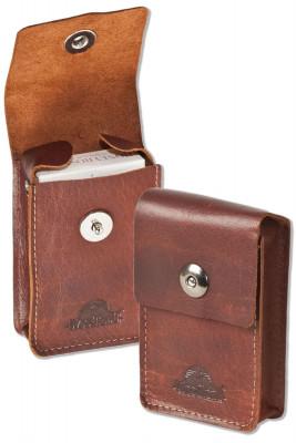Woodland® Zigarettenenschachtel-Etui aus rustikalem Büffelleder in Multibraun