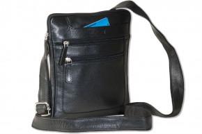 Rimbaldi® Umhängetasche aus feinem Nappa-Rindsleder in Schwarz