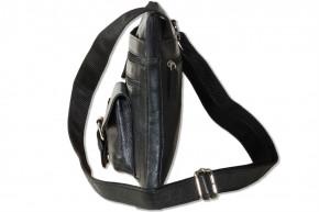 Rimbaldi® - Umhängetasche aus feinem Nappa-Rinderleder in Schwarz