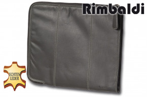 """Rimbaldi"" Great Universal document map made from soft nappa leather in black"