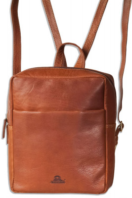 Woodland® High quality shoulder bag made of rustical oiled buffalo leather in brown