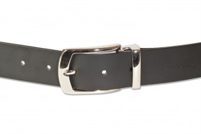 Rimbaldi ®- Full leather belt with metal buckle masssiver (nickel free), smooth buffalo leather - sa