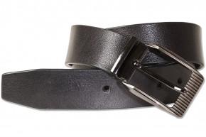 Rimbaldi®  Jeans Voll-Ledergürtel mit masssiver Metallschnalle aus Büffelleder mit natürlicher Oberfläche in Schwarz